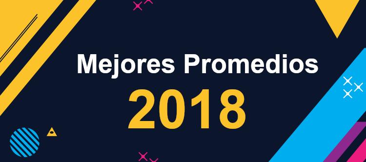 Mejores Promedios Año 2018